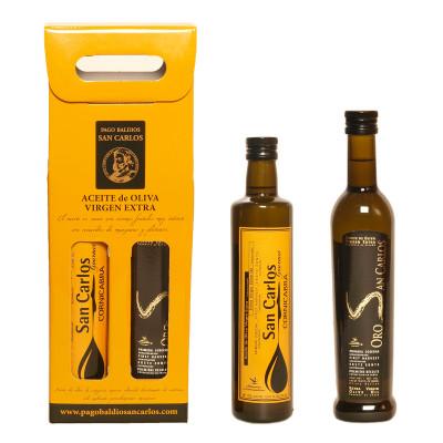 San Carlos Gourmet + Oro San Carlos. Dúo Aceites 500ML.